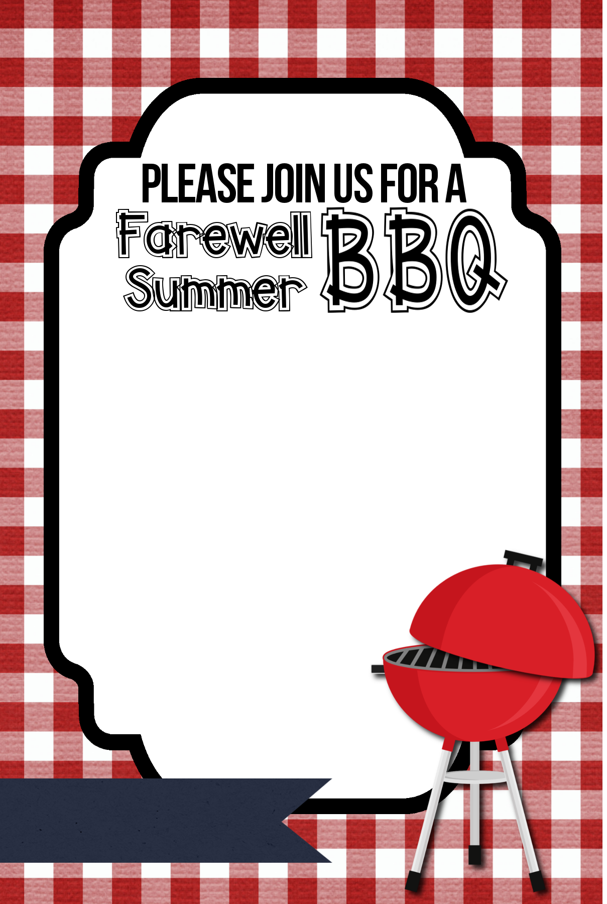 Free Printable BBQ Party Invitation Template