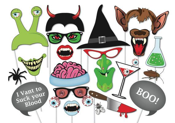 Free Printable Booth Props Halloween