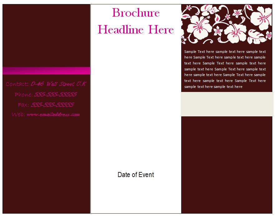 13 microsoft word trifold template images blank tri fold brochure