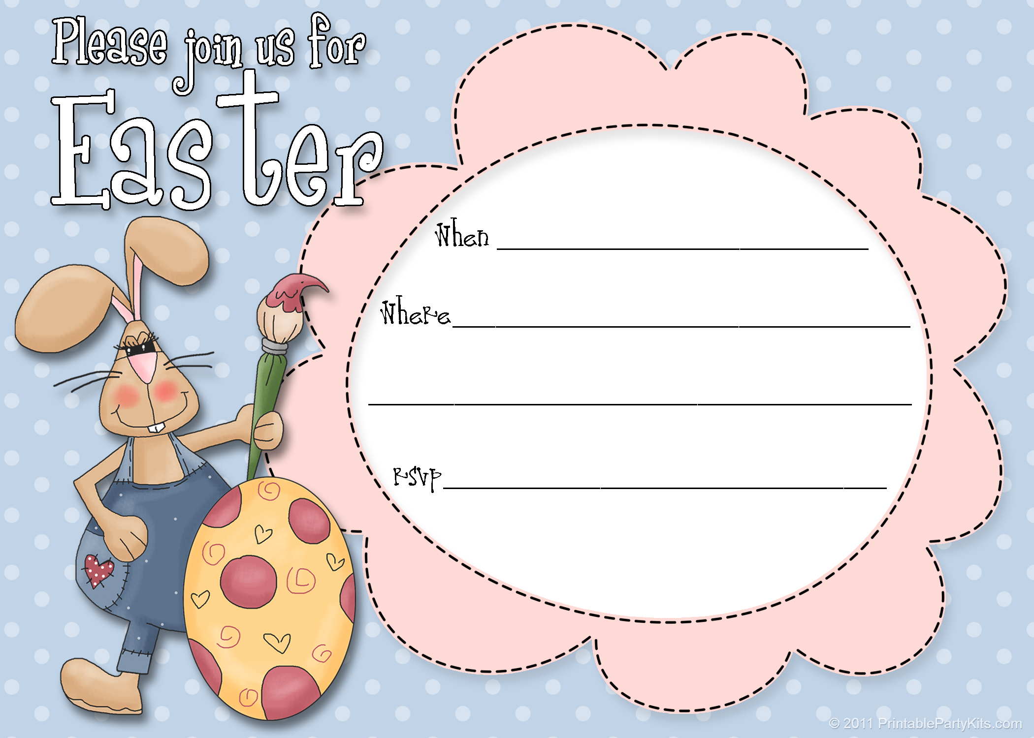 Free Printable Easter Party Invitations Templates