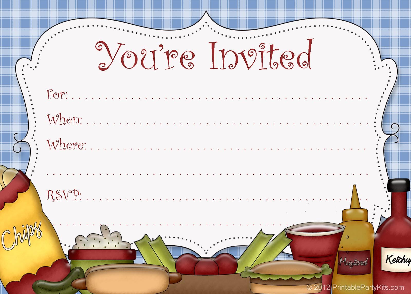 Free Printable Picnic Invitations Templates