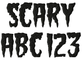 11 Creepy Number Fonts Images