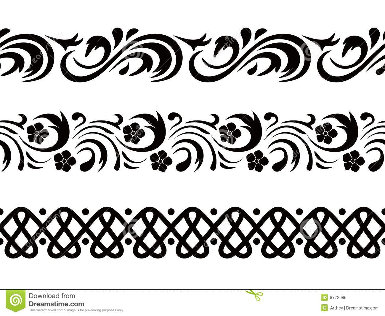 16 vector seamless pattern border images vector swirls border victorian style borders vectors for Border vectors