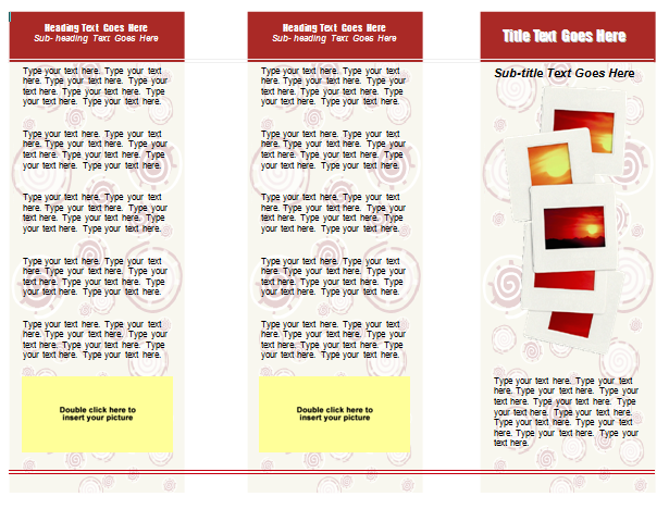 Free Tri Fold Brochure Templates For Word  Microsoft Word Tri Fold Brochure Template