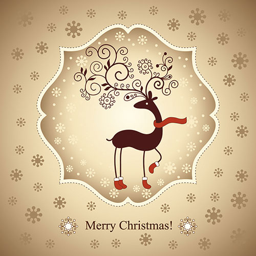Free Vector Christmas Card Templates