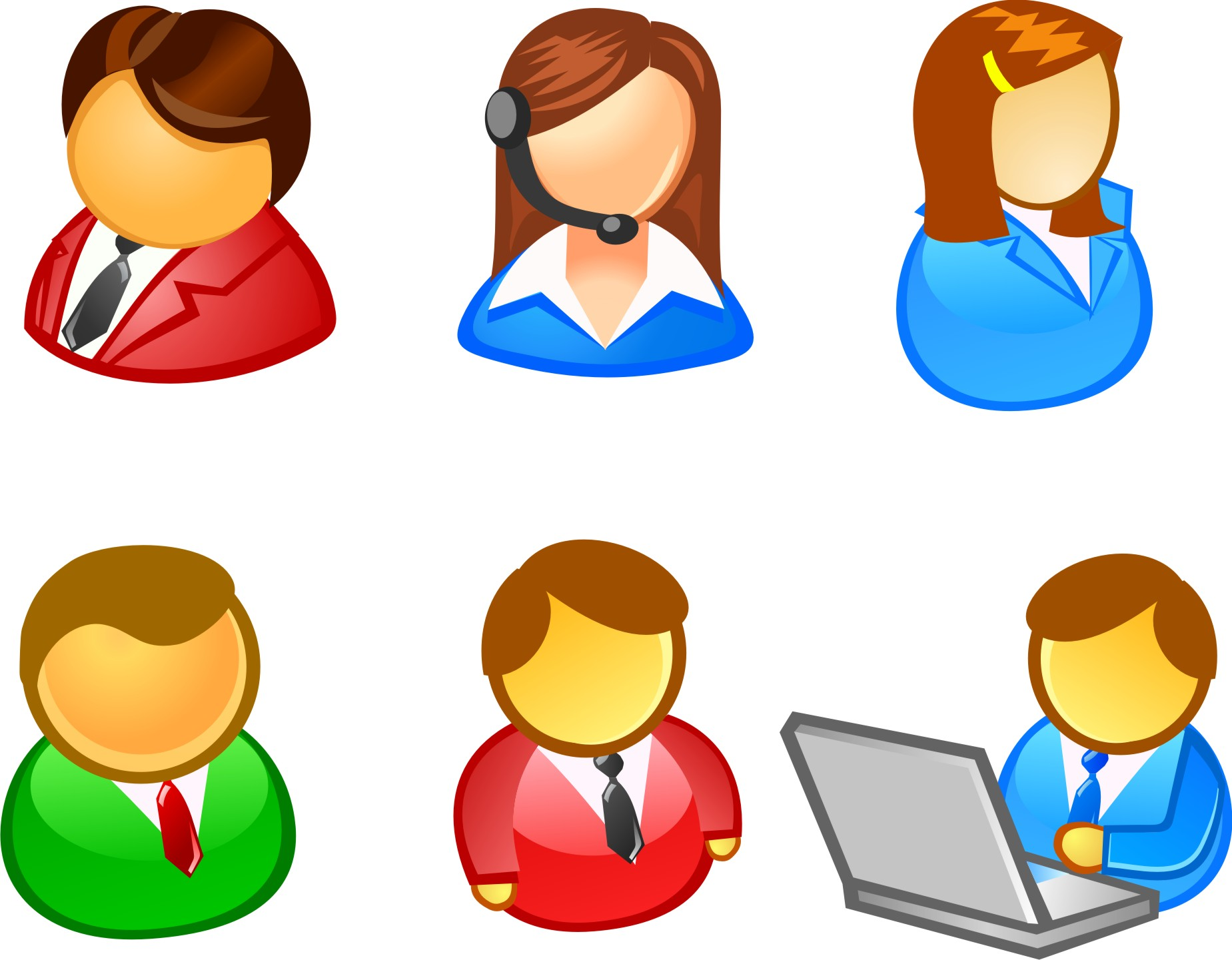 14 Vector People Icons Images