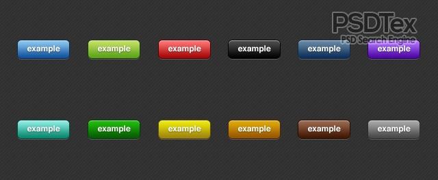 Free Vector PSD Button Set