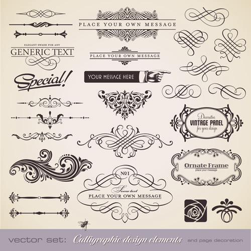 12 Free Vintage Vector Elements Images