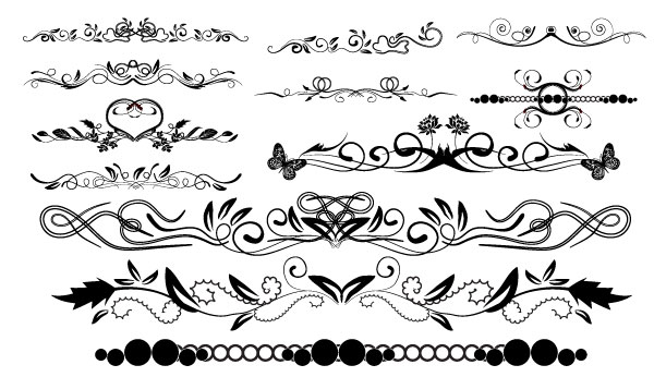 14 Vector Floral Swirl Border Images