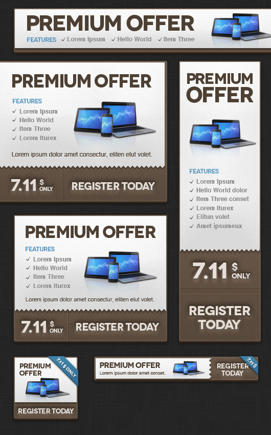 Website Banners Templates. flat website banners template web ...
