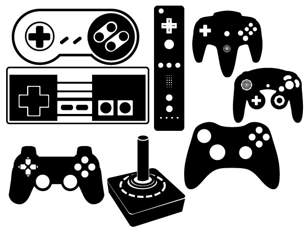 11 Controller Mouse Vector Clip Art Images