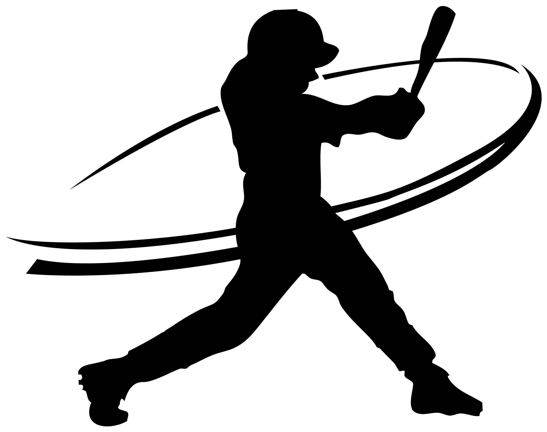 11 Softball Player Silhouette Vector Images