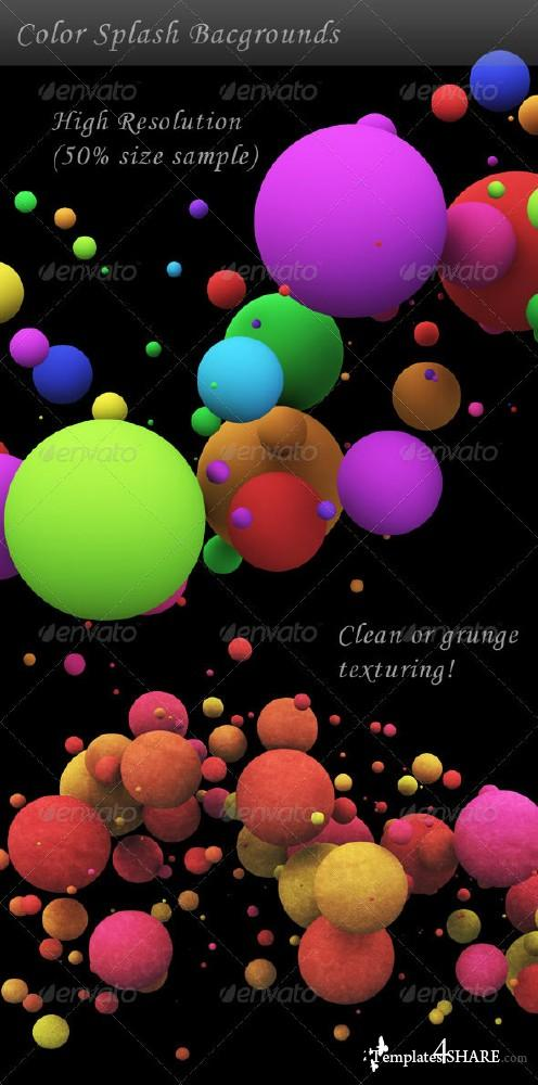 Graphic Color Splash Backgrounds