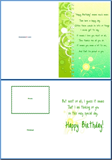 Happy Birthday Card Templates Word
