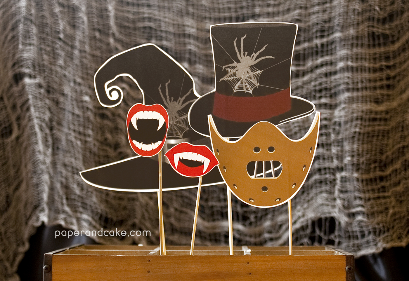 Horror Halloween Photo Booth Props Printable