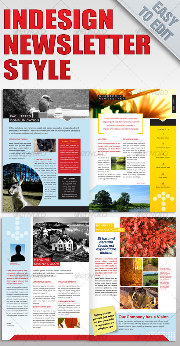 Free Indesign Newsletter Templates Romeolandinezco - Indesign newsletter templates