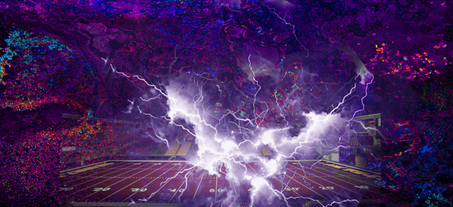 Lightning Background Photoshop Football Field
