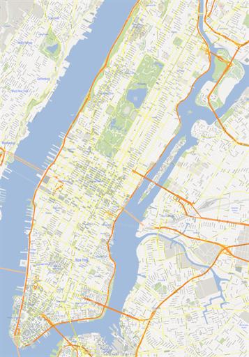 9 Manhattan Vector Map Images
