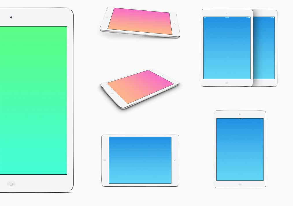 Mini iPad Mockup Template