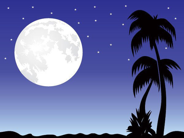 16 Free Vector Design Graphic Colors Moon Images