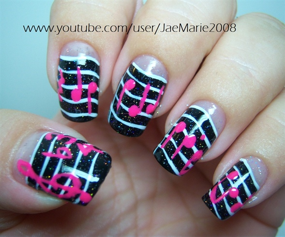 14 Music Notes Nail Art Design Images