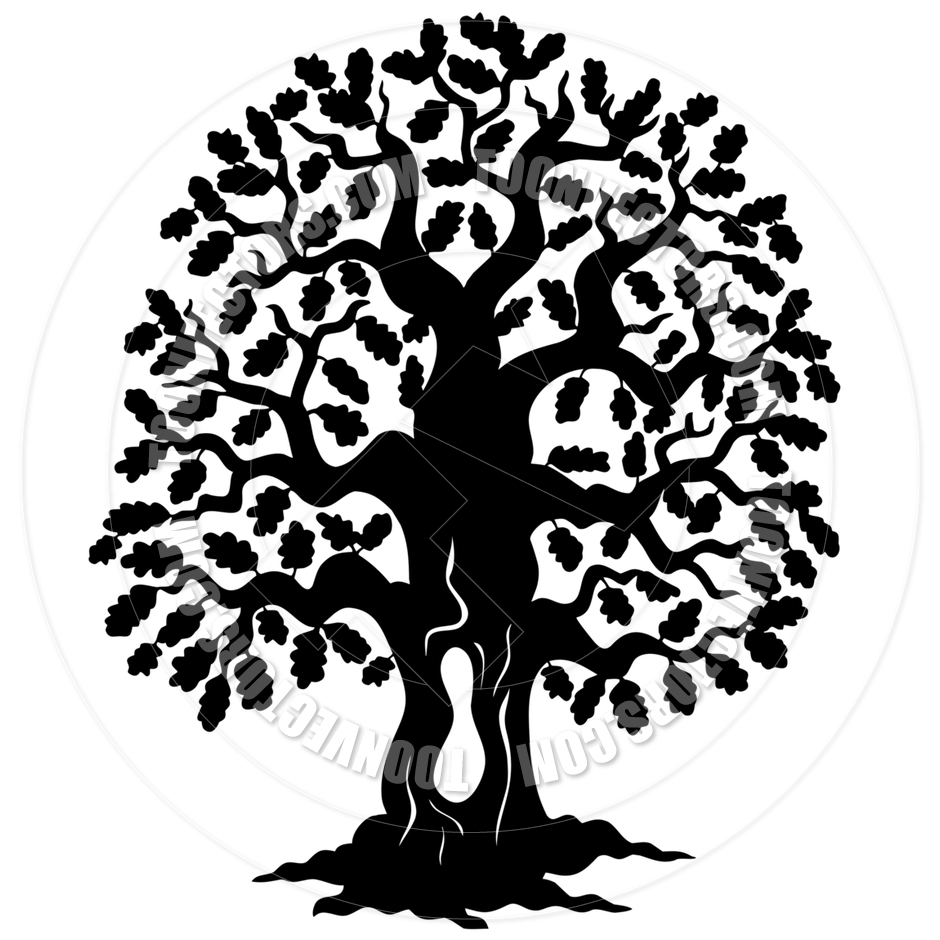 16 Cartoon Tree Silhouette Vector Images