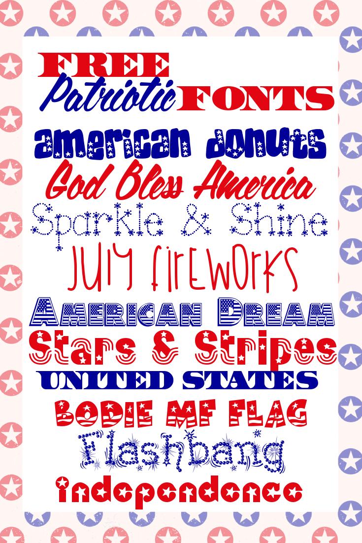 Patriotic Font Free Downloads
