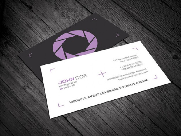 Photography Business Card Templates Free