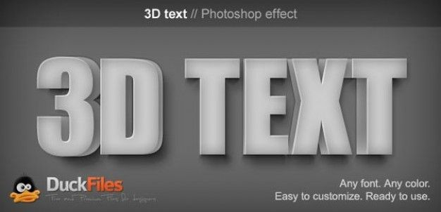 Photoshop 3D Text Effect PSD
