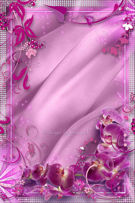 Pink Flower Border Design