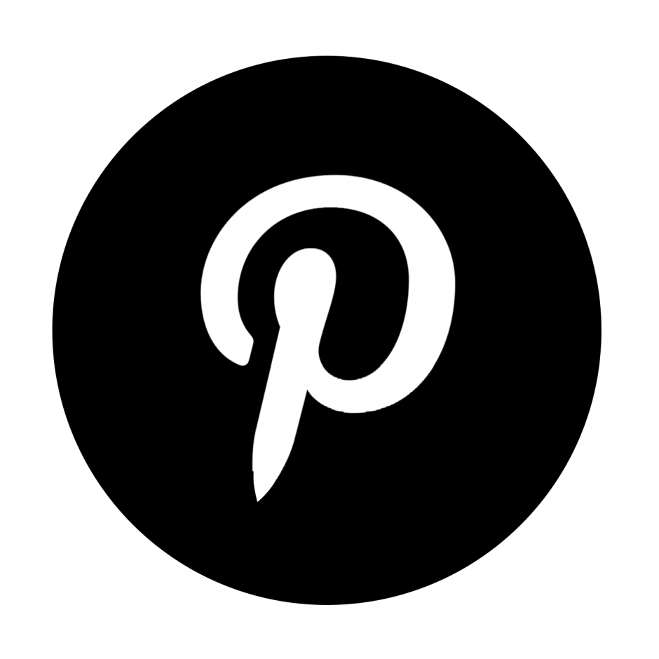 14 pinterest icon circle black images pinterest icon