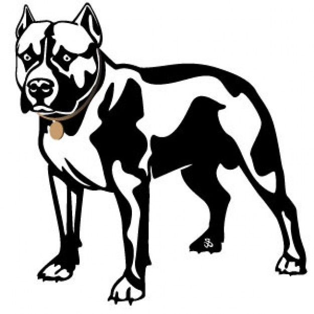15 Pit Bull Silhouette Vector Images