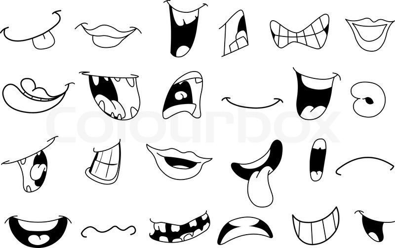 graphic about Mouth Printable named 8 Cartoon Mouth Vector Pics - No cost Vector Cartoon Lips