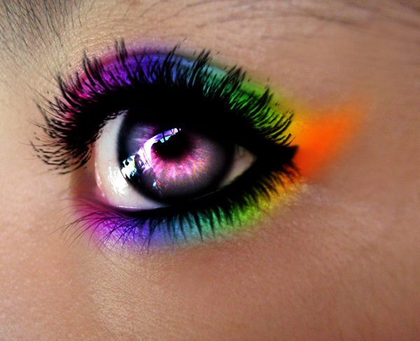 10 Rainbow Eyes PSD Images