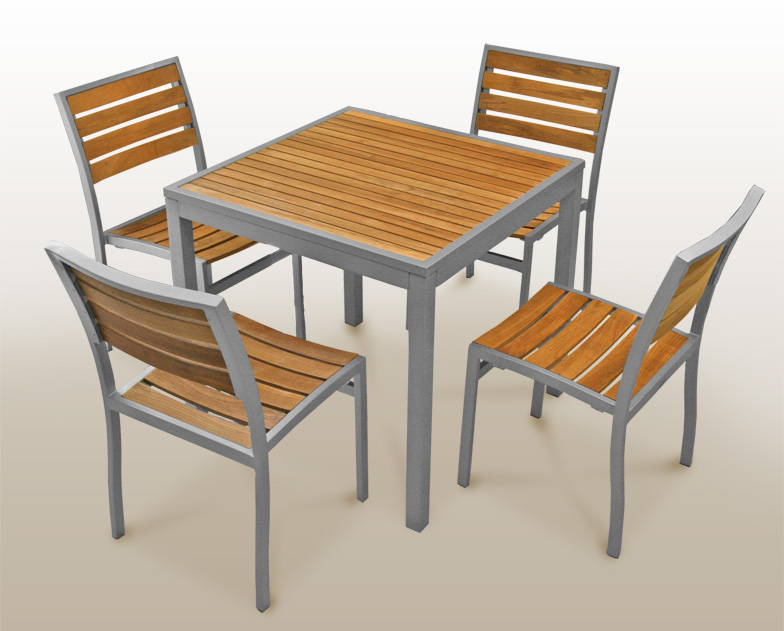 Cafe tables and chairs vector images table