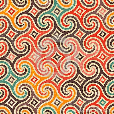 Retro Swirls Vector Patterns