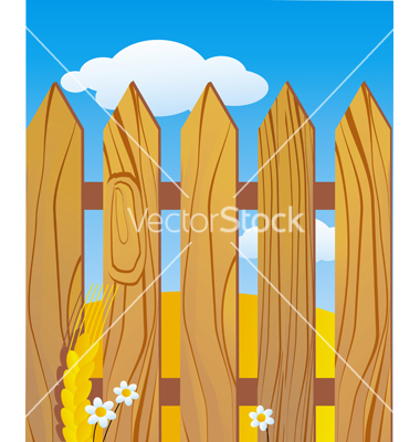 11 Simple Log Fence Vector Images
