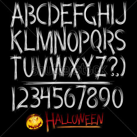 Scary Font Styles Alphabet