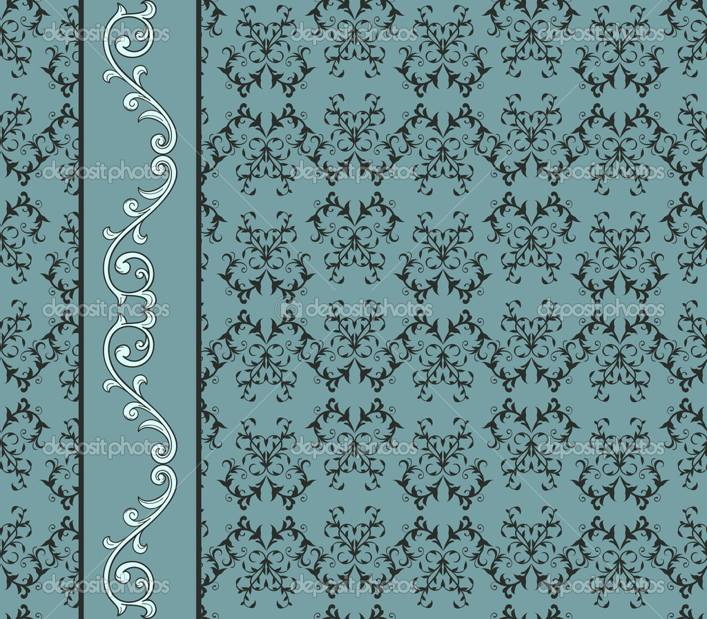 Seamless Floral Pattern Border