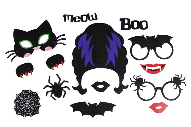 Selfie Booth Props Free Printable Halloween