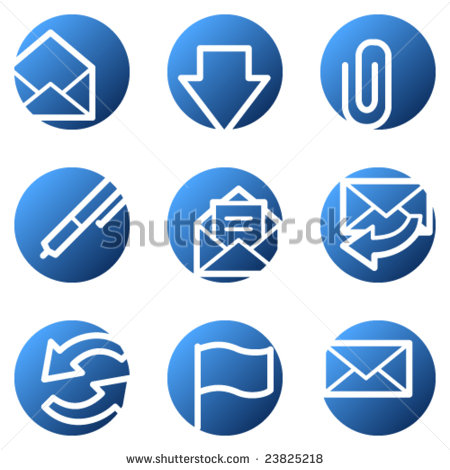 Share Email Icon Blue Circle