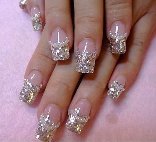 Silver Acrylic Nail Designs