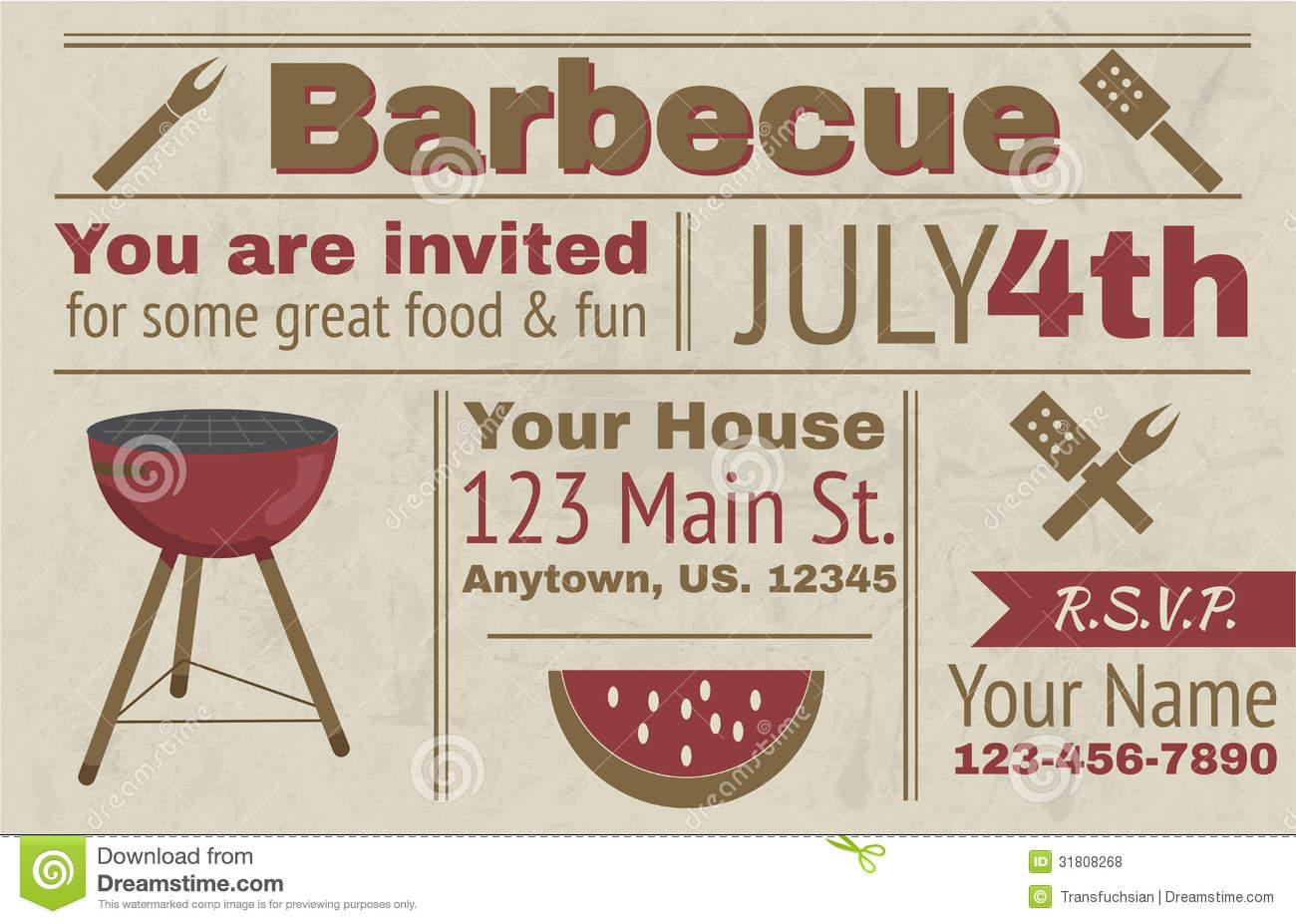 Summer BBQ Invitation Templates Free