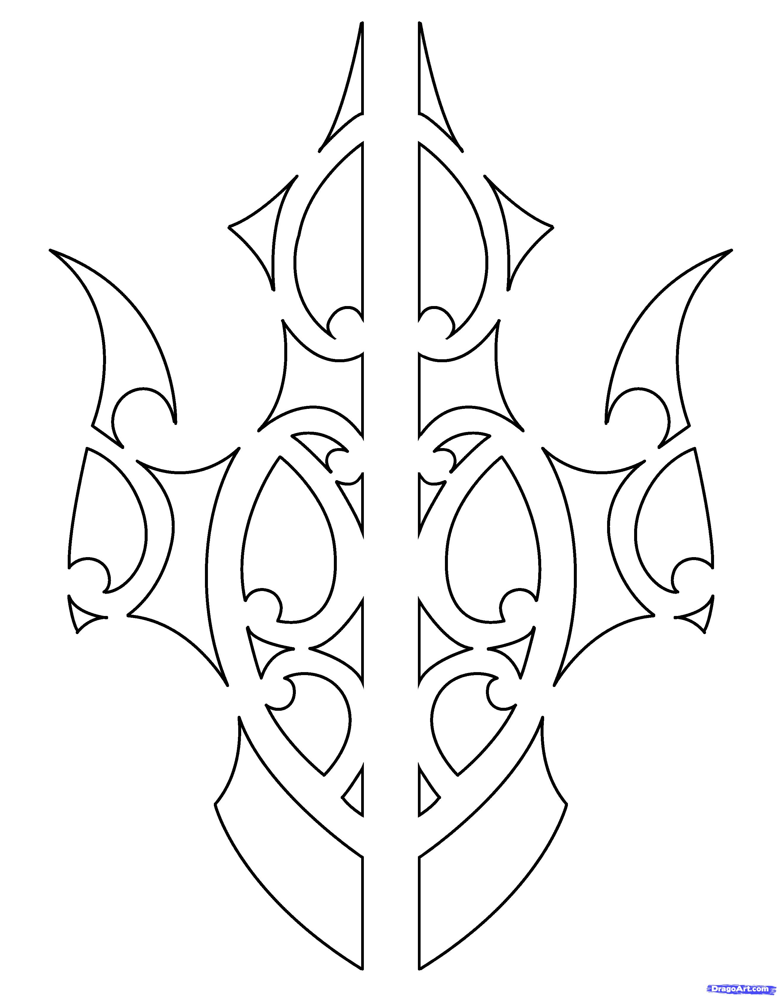 18 simple designs to draw images cool draw easy tattoo for Cool drawing designs step by step