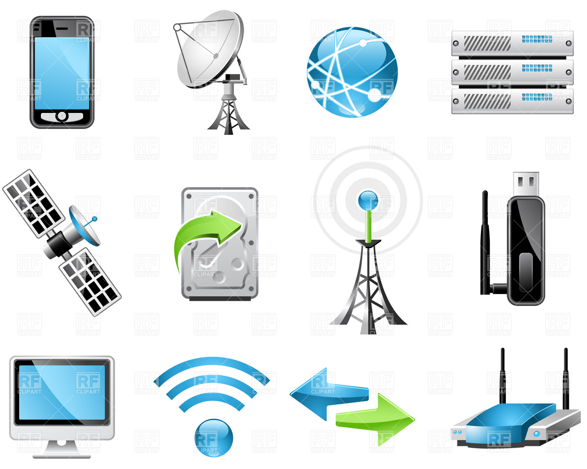 Technology Icons Clip Art