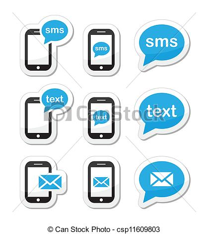 Text Message Icons Vector