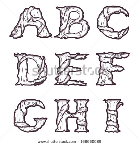 Tree Root Fonts Alphabet Letters