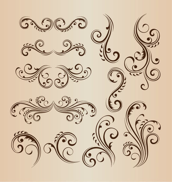 Vector Floral Swirl Design