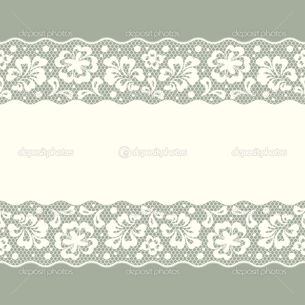 Vintage Flower Background Seamless Vector Lace Pattern