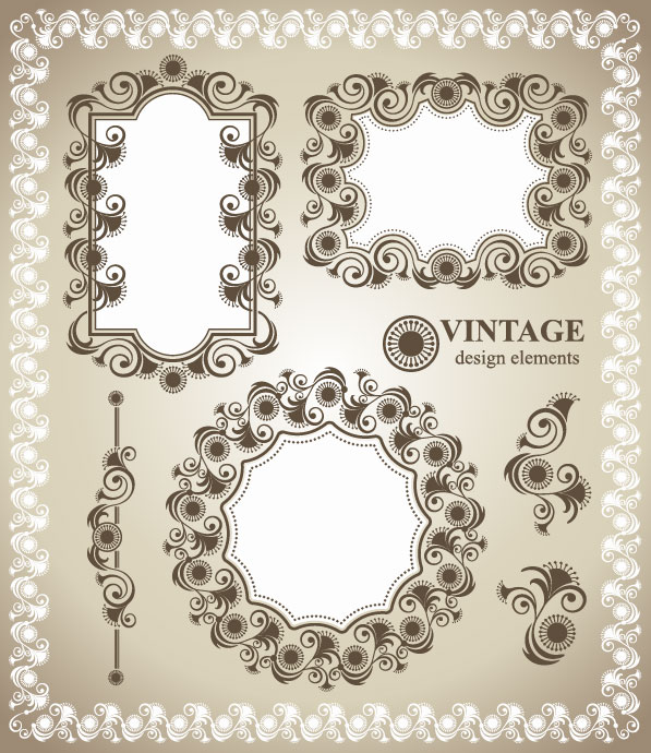 Vintage Lace Border Vector